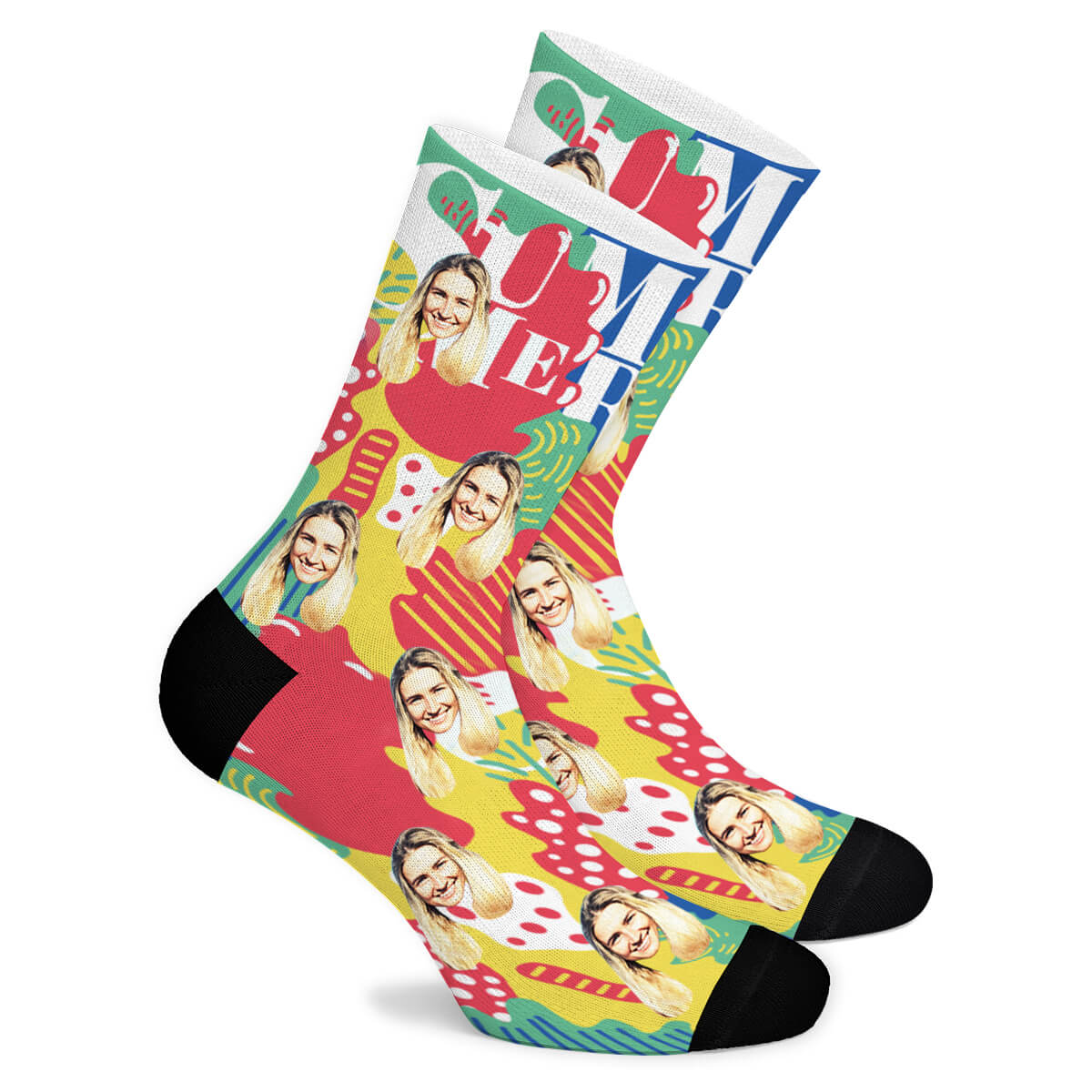 Summer Custom Socks - Make Face Socks