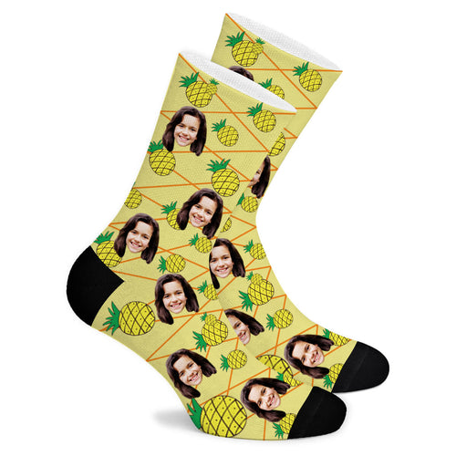 Pineapple Custom Socks - Make Face Socks