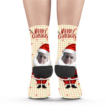 Load image into Gallery viewer, Santa's Big Beard Custom Socks - Make Face Socks