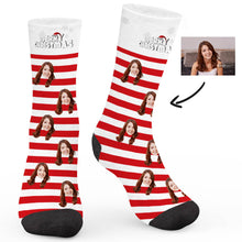 Load image into Gallery viewer, Candy Christmas Custom Socks - Make Face Socks