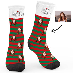 Candy Christmas Custom Socks - Make Face Socks