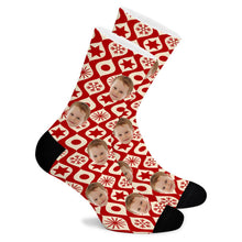 Load image into Gallery viewer, Plaid Custom Socks - Make Face Socks