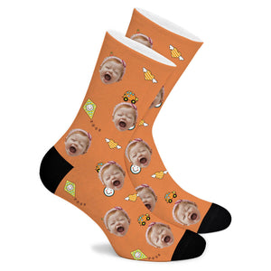 Car Children's Custom Socks - Make Face Socks