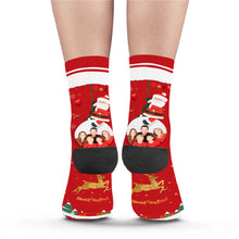 Load image into Gallery viewer, Christmas Family Photo Custom Socks - Make Face Socks