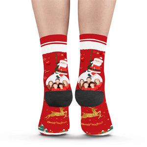 Christmas Family Photo Custom Socks - Make Face Socks