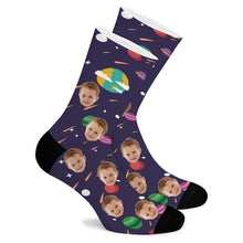 Load image into Gallery viewer, Space Series Custom Socks - Make Face Socks