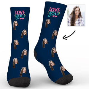 Love You Custom Socks - Make Face Socks