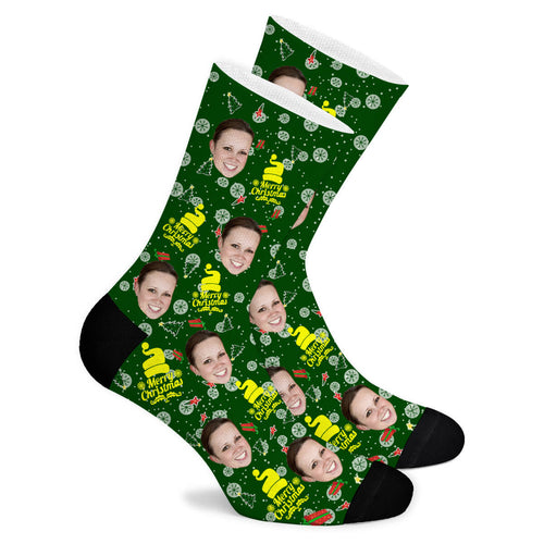 Christmas Custom Socks Gift - Make Face Socks
