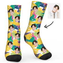Load image into Gallery viewer, Camouflage Custom Socks - Make Face Socks