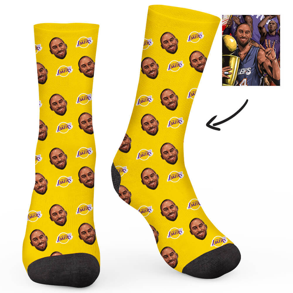 Lakers Custom Socks - Make Face Socks