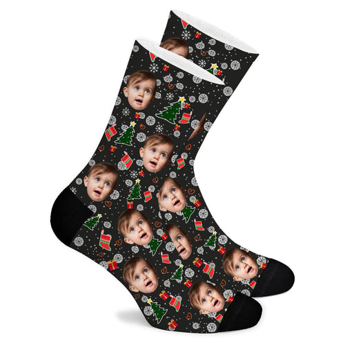Christmas Custom Socks Christmas Tree - Make Face Socks