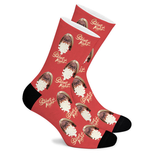 Christmas Eve Custom Socks - Make Face Socks