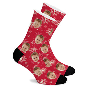 Christmas Snowflake Custom Socks - Make Face Socks