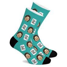 Load image into Gallery viewer, You Make Me Happy Custom Socks - Make Face Socks