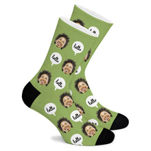 Load image into Gallery viewer, Hello Custom Socks - Make Face Socks