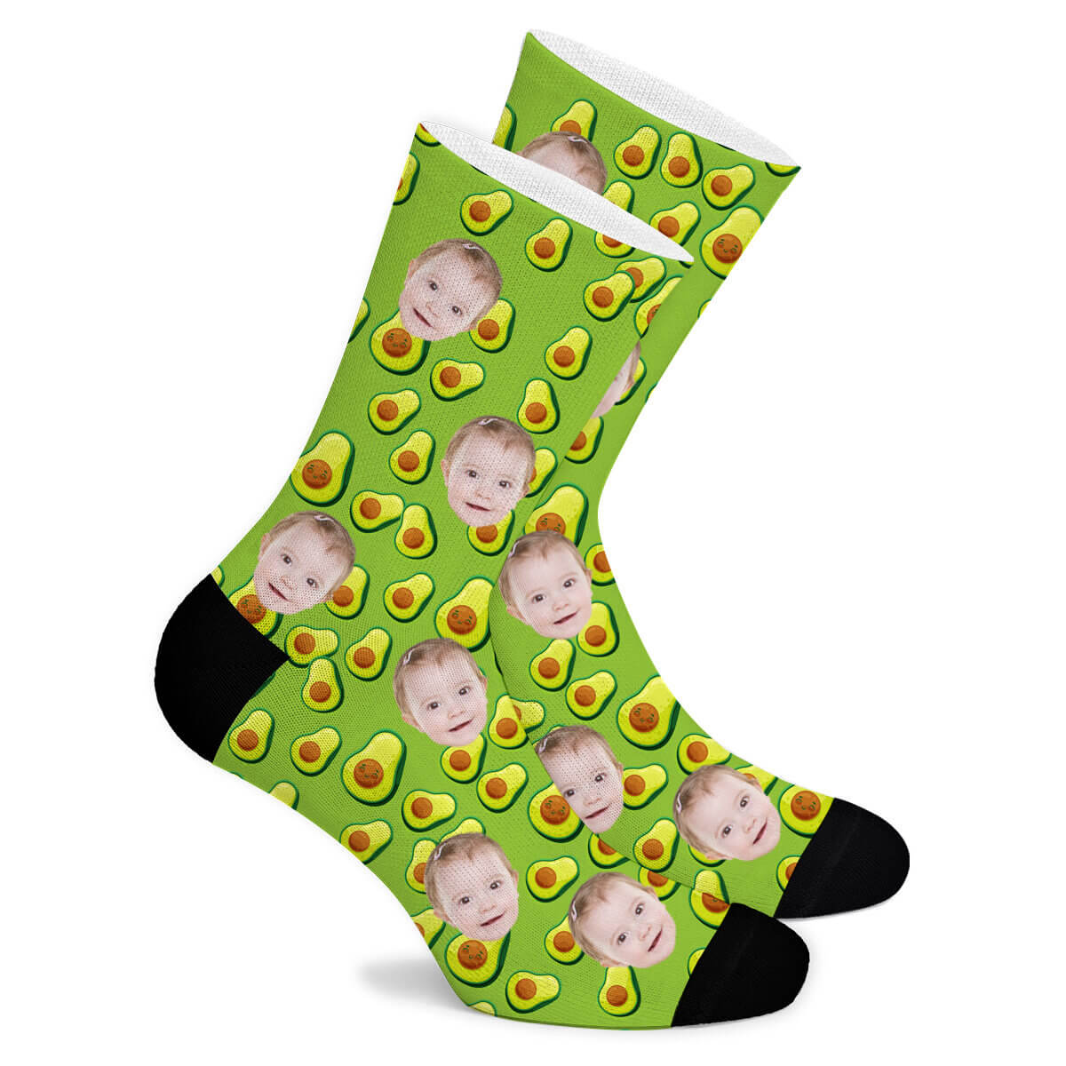 Happy Avocado Custom Socks - Make Face Socks