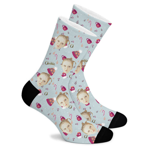 Christmas Element Custom Socks - Make Face Socks