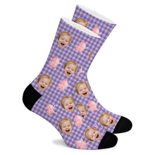 Load image into Gallery viewer, Fart Peach Jun Cartoon Custom Socks - Make Face Socks