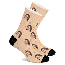 Load image into Gallery viewer, Floral Elements Custom Socks - Make Face Socks