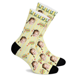 Fruit Party Custom Socks - Make Face Socks