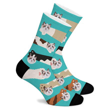 Load image into Gallery viewer, Paw Custom Socks - Make Face Socks