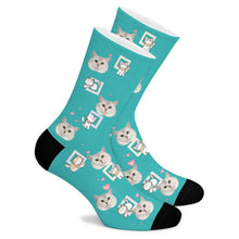 Load image into Gallery viewer, Cute Cat Custom Socks - Make Face Socks