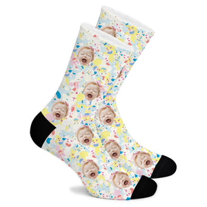 Light  Color Graffiti Custom Socks - Make Face Socks