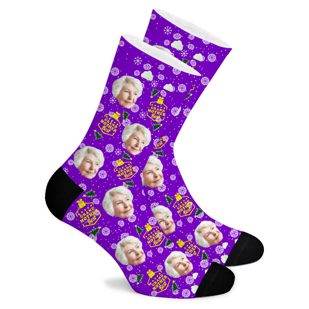 Christmas Custom Socks Grandmother - Make Face Socks