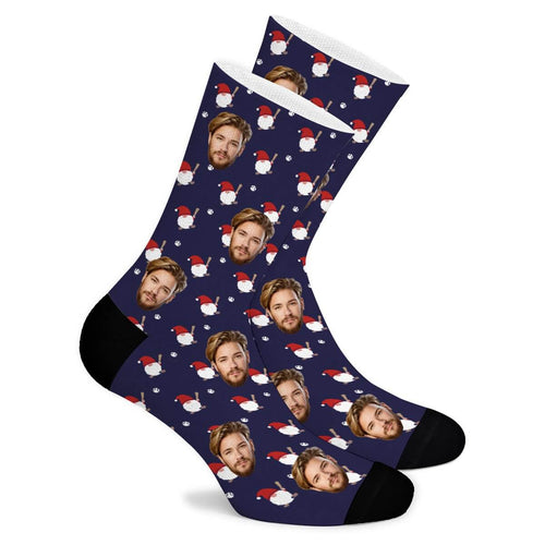 Santa Custom Socks - Make Face Socks