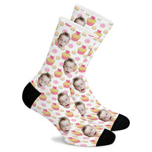 Load image into Gallery viewer, Delicious Cake Custom Socks - Make Face Socks