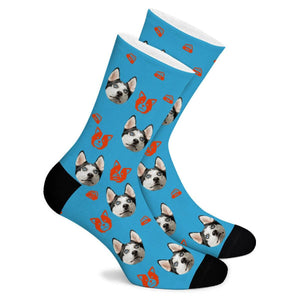 Cartoon Puppy Custom Socks - Make Face Socks