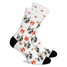 Load image into Gallery viewer, Cartoon Puppy Custom Socks - Make Face Socks
