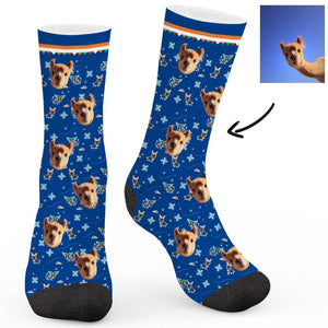 Retro Cartoon Pattern Custom Socks - Make Face Socks