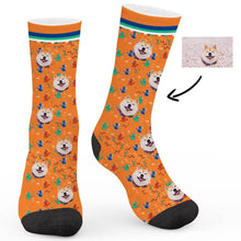 Load image into Gallery viewer, Retro Cartoon Pattern Custom Socks - Make Face Socks