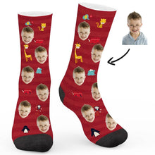Load image into Gallery viewer, Zoo Travel Custom Socks - Make Face Socks