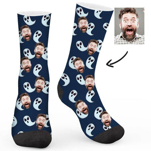 Ghost Pattern Custom Socks - Make Face Socks