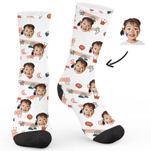 Load image into Gallery viewer, Simple Small Pattern Custom Socks - Make Face Socks