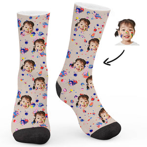 Doodle Theme Custom Socks - Make Face Socks