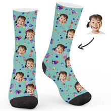 Load image into Gallery viewer, Doodle Theme Custom Socks - Make Face Socks