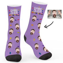 Load image into Gallery viewer, Tetris Theme Custom Socks - Make Face Socks
