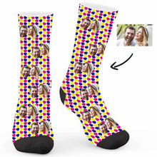 Load image into Gallery viewer, Colorful Heart Custom Socks - Make Face Socks