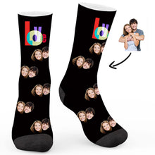 "Load image into Gallery viewer, ""Love"" Custom Socks - Make Face Socks"