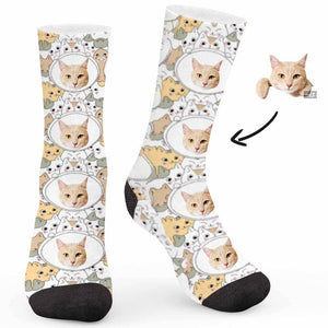 Cute Cat Custom Socks - Make Face Socks