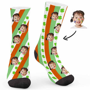 Color Matching Four-Leaf Clover Custom Socks - Make Face Socks
