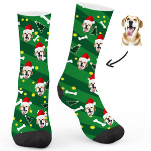 Christmas Custom Socks Dog - Make Face Socks
