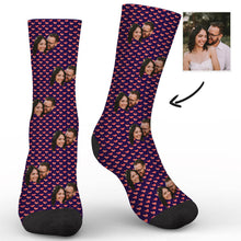 Load image into Gallery viewer, Custom Burning Love Socks - Make Face Socks