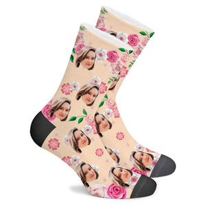 Custom Peony Socks - Make Face Socks