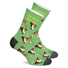 Load image into Gallery viewer, Custom Sock Dog Footprint Text - Make Face Socks