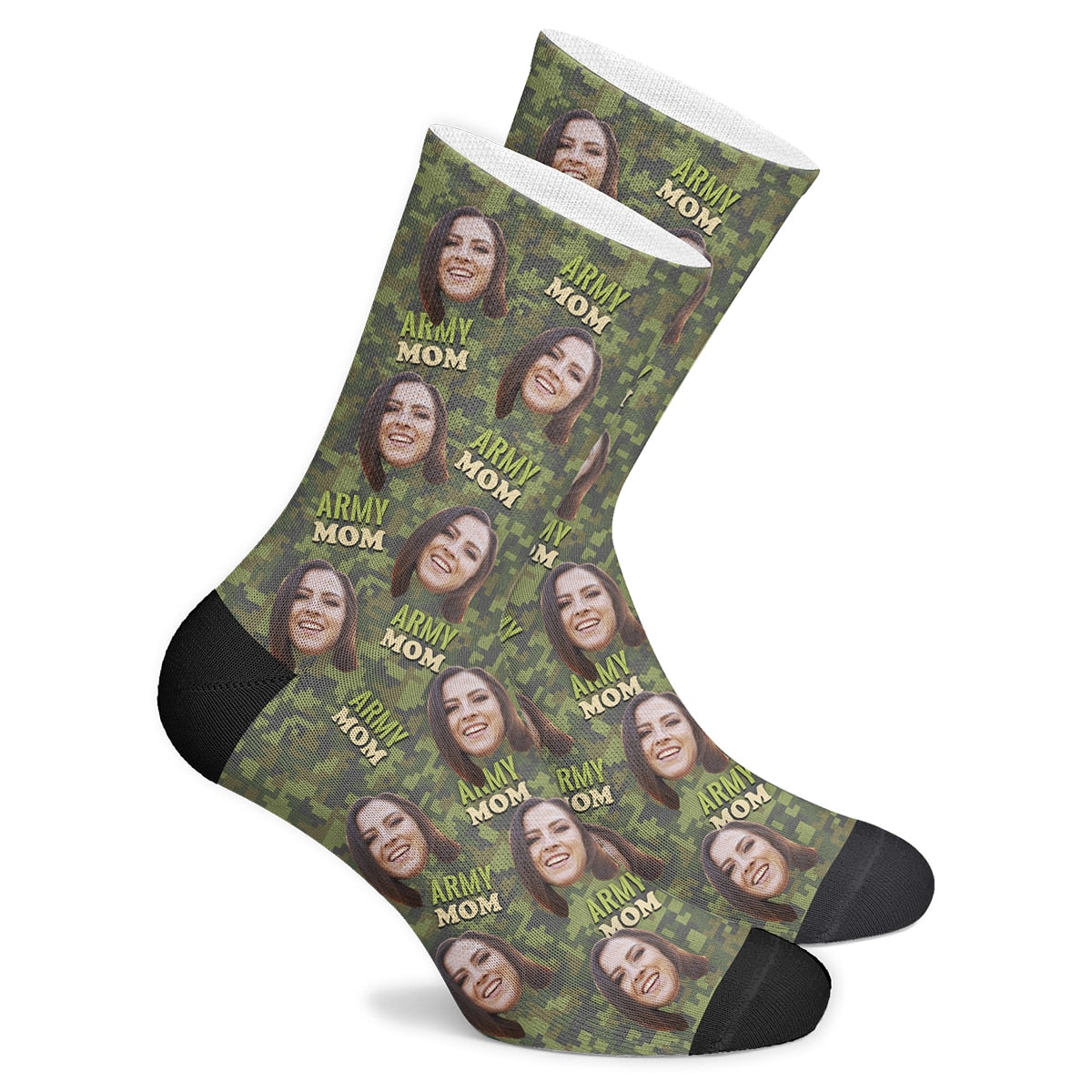 Custom Army Mom Socks - Make Face Socks