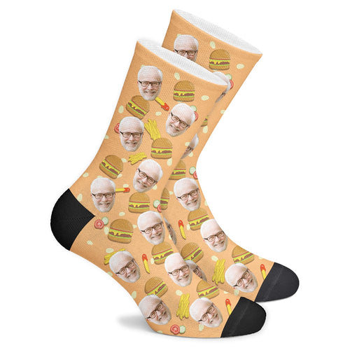 Custom Burger Socks - Make Face Socks